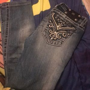 Girls size 14 miss me jeans